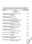 Indian Journal of Social Development