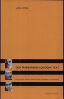 Der phänomenologische Text