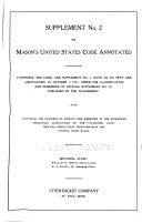 Mason s United States Code Annotated  1926