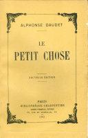 Pdf Le Petit Chose Telecharger