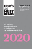 HBR s 10 Must Reads 2020 Book