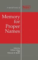 Memory for Proper Names