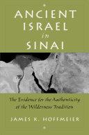 Ancient Israel in Sinai Pdf/ePub eBook