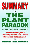 Summary Of The Plant Paradox By Dr Steven Gundry Book