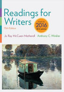 Readings for Writers  2016 MLA Update