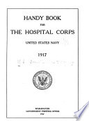 Handbook of the Hospital Corps  United States Navy