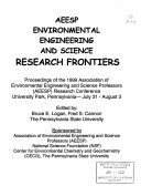AEESP Environmental Engineering and Science Research Frontiers