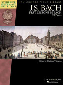 First Lessons In Bach Piano Schirmer Performance Editions Book Only Book