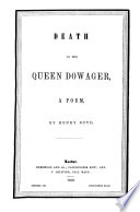 Death Of The Queen Dowager A Poem