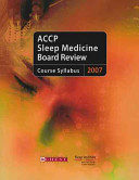 Accp Sleep Medicine Board Review 2007 Book PDF