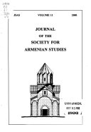 Journal of the Society for Armenian Studies Book