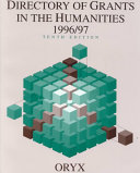 Directory of Grants in the Humanities  1996 1997
