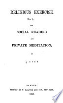 Religious exercise  no 1   3  for social reading and private meditation  by  obelus