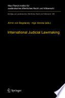 International Judicial Lawmaking