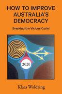 How to Improve Australia s Democracy Book