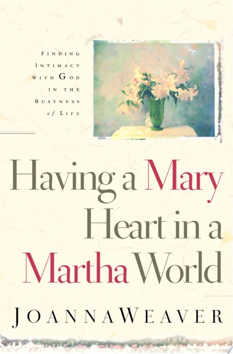 Having a Mary Heart in a Martha World banner backdrop