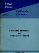 Governor S Conference On Public Library Service April 7 And 8 1960