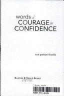Words of Courage & Confidence