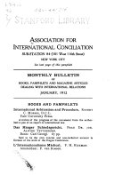 Monthly Bulletin Of Books Pamphlets And Magazine Articles Dealing With International Relations