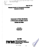 Assessment of water distribution at watercourse and minor level of Bahadurwah Minor