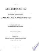 Abhandlungen Der Königlich Preussischen Akademie Der Wissenschaften, Philosophisch-Historische Classe