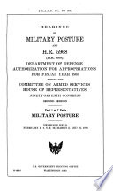 Hearings On Military Posture And H R 5965 H R 6030 Department Of Defense Authorization For Appropriations For Fiscal Year 1983 Before The Committee On Armed Services House Of Representatives Ninety Seventh Congress Second Session