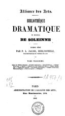 Bibliothèque dramatique de Monsieur de Soleinne