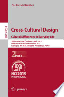 Cross-Cultural Design. Cultural Differences in Everyday Life