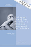 Teaching and Learning from the Inside Out: Revitalizing Ourselves ...