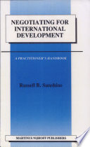 Negotiating For International Development