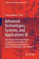 Advanced Technologies  Systems  and Applications III