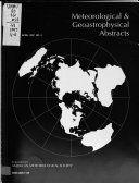 Meteorological and Geoastrophysical Abstracts Book
