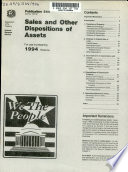 Sales and Other Dispositions of Assets