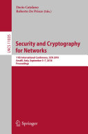 Security and Cryptography for Networks [Pdf/ePub] eBook