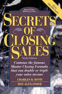Secrets of Closing Sales Book