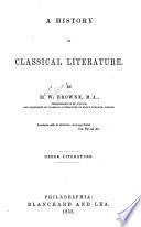 History of Classical Literature  Greek Literature Book
