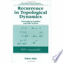 Recurrence in Topological Dynamics Book