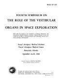 Symposium on the Role of the Vestibular Organs in Space Exploration