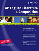 Kaplan AP English Literature and Composition  2007 Edition Book