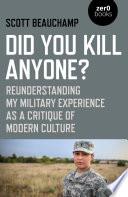 Did You Kill Anyone  Book