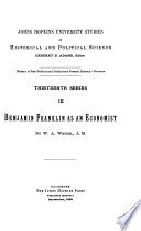 Benjamin Franklin as an Economist