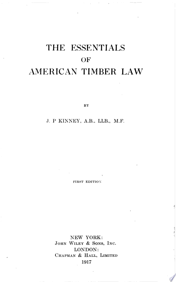 THE ESSENTIALS OF AMERICAN TIMBER L