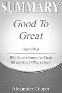 Summary of Good to Great Pdf/ePub eBook