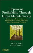 Improving Profitability Through Green Manufacturing Book