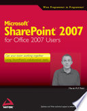 Microsoft SharePoint 2007 for Office 2007 Users Book