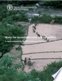 Water for sustainable food and agriculture Book