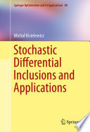 Stochastic Differential Inclusions and Applications Book