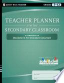 Teacher Planner for the Secondary Classroom