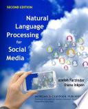 Natural Language Processing For Social Media Book PDF