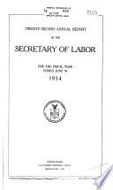 Annual Report   United States Department of Labor Book PDF